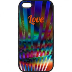 rainbow love phone case