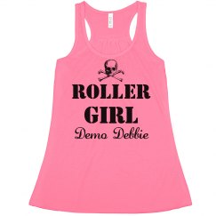 Custom Derby Girl Neon Crop