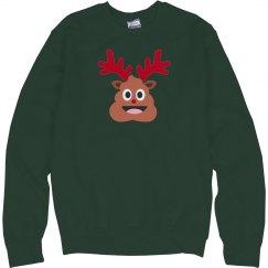 xmas reindeer poop emoji