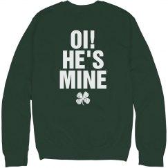 Oi He's Mine St. Patricks Couple