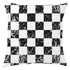 Black and White Checkers Race Car Check Winners Flag