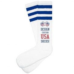 Custom USA Drinking Socks