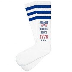 USA 1776 Drinking Socks
