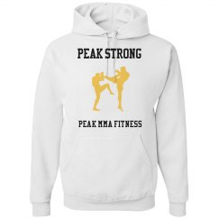 Peak Strong Kickboxing/boxing Hoodie- White