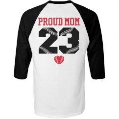 Proud Softball Mom Custom Sports Jersey