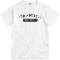 Custom Grandpa EST. Tee