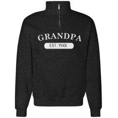 Custom Grandpa EST. Sweater