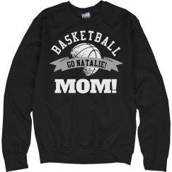 Sporty and Trendy Basketball Mom Custom Fleece Sweater