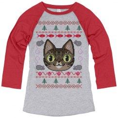Womens Cat Lover Christmas Pajamas