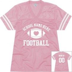 Custom Football Mom Fan Jersey