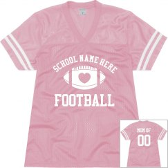 Football Mom Fan Jersey WIth Custom Text