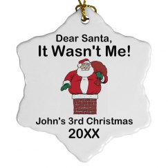 It Wasn't Me Ornament