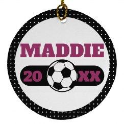 Custom Soccer Ornament