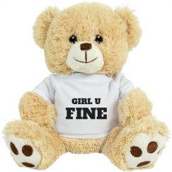 Girl U Fine Cute Valentines Gift