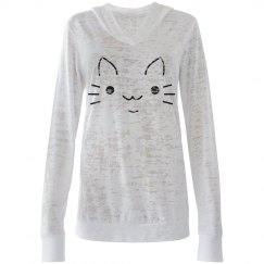 Cute Kitty Face Hoodie