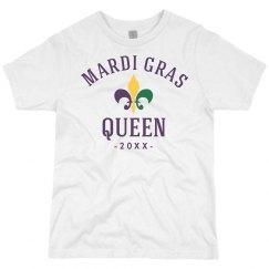 Custom Date Mardi Gras Queen