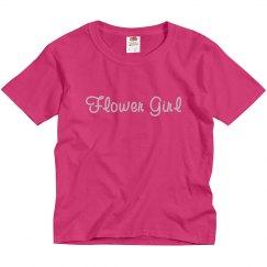 Flower Girl Pink Script