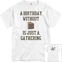 Birthday without cake