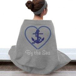 Navy Nautical Heart Anchor Sea