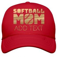 Gold Shiny Softball Mom