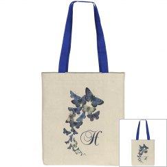 Monogramed Blue Butterfly Bag