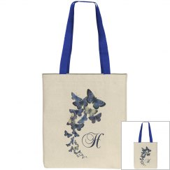 Monogramed Blue Butterfly Bag