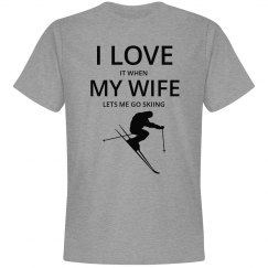Love my wife, love skiing