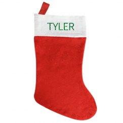 Christmas Stocking (green glitter lettering)