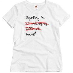 Spelling is Hard