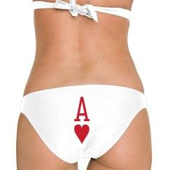 ACE HEARTS SWIM BOTTOM