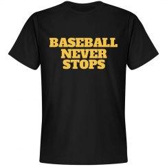 Baseball never stops