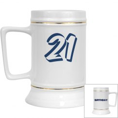 21ST Birthday Stein