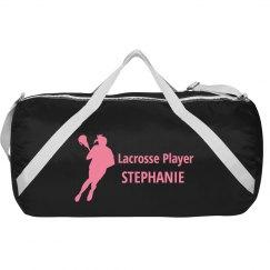 Lacrosse Player Duffel Bag