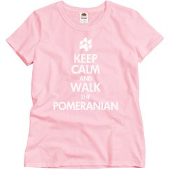 Walk the pomeranian
