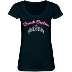 Sweet Sixteen Tiara Tee