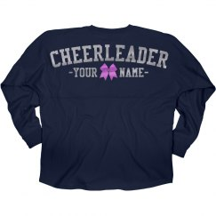 Silver Metallic Custom Cheerleader