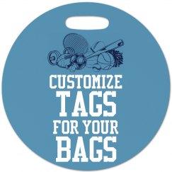 Customize Sports Bag Tags