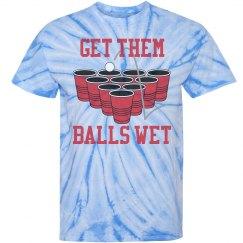 Beer Pong Balls Wet