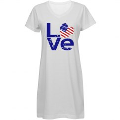 Distressed Blue USA LOVE