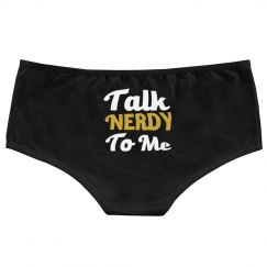 talk nerdy to me booty shorts