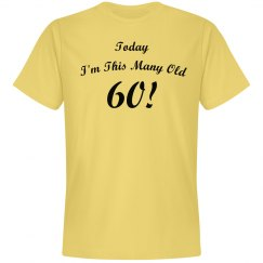 Today i'm this many old!