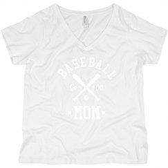Custom Baseball Mom Curvy Tee