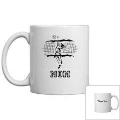 Volleyball mom coffee mug