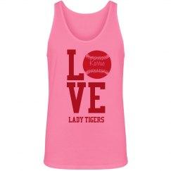 Love Softball Neon Tank