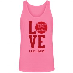 Love Softball Neon Tank