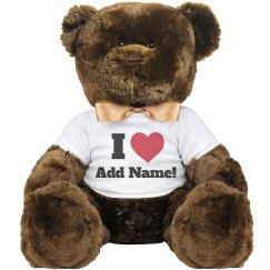 Love valentine teddy bear