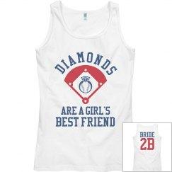 Baseball Bachelorette Bride Tank