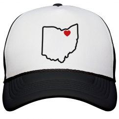 Heart Cleveland Ohio snapback