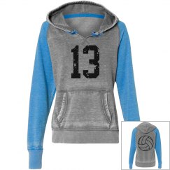 Distressed Volleyball Pullover