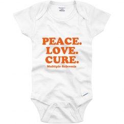 Peace Love Cure Onesie